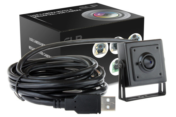 USB 2.0 HD 720P machine vision camera with HD 3.7mm pinhole lens ELP-USB100W03M-PL37