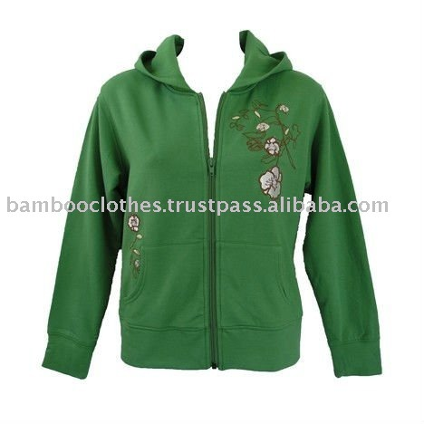 Women's Embroidered Hooded Jacket