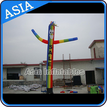 8mH advertising Yellow Vibe Logo Air Dancer Guy inflatable for promotion