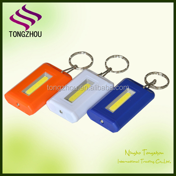 2016 best selling factory promotion price ABS Plastic flashlight keychain