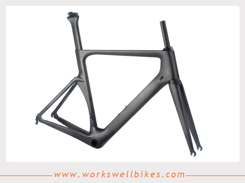 700C carbon frame 59cm aero road bike frame chinese full carbon fiber bicycle frame