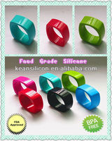 Custom Natural Silicon Bracelet/Non-toxic Charming Silicone Teething Bracelet Bling