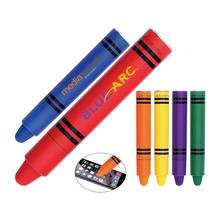 Popular mini design wide barrel rubber tip promotion funny stylus pen for smartphone child gift