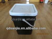 black plastic bucket 20L industry black plastic pail