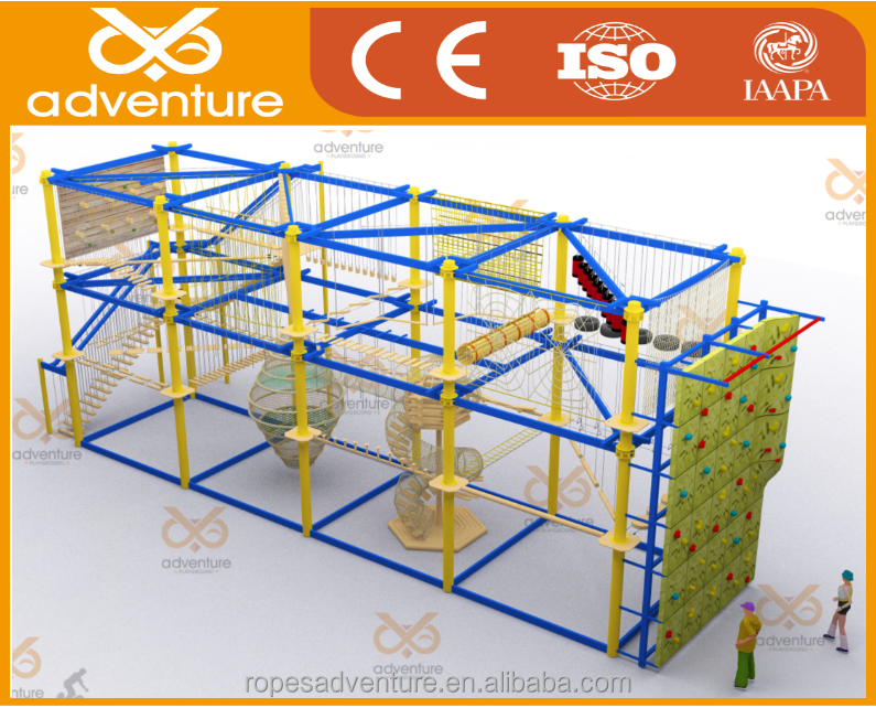Two layers indoor ropes course amusement park,obstacle courses,adventure park