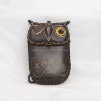 Handmade Leather Owl Cell Phone Case