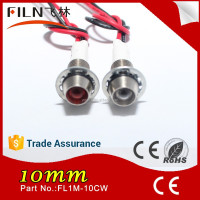 chinese porn 12v 10mm diameter blue lamp metal indicator led light