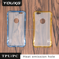 new design pc+tpu phone case with heating release hole