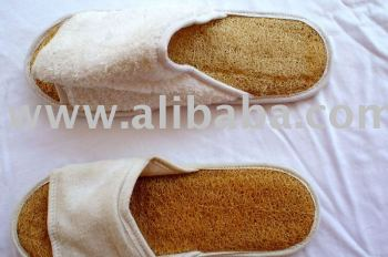 loofah spa slippers
