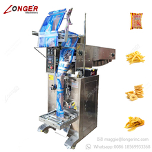 Automatic Potato Banana Chips Crisps Filling Sealing Puffed Food Packaging Machine Price Prawn Shrimp Crackers Packing Machine