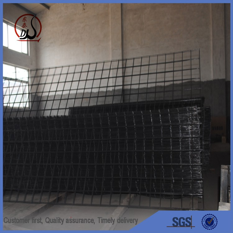 concrete masonry brick wall reinforced rebar steel matting and hot-dipped galvanized welded wire mesh