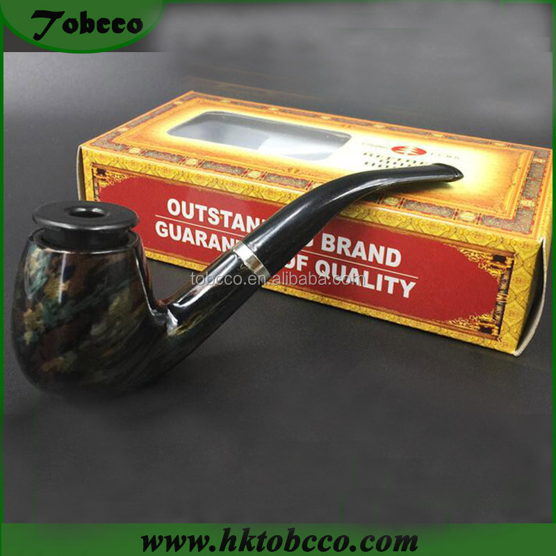Classic Wooden Smoking Tobacco Pipe Cigarettes Cigar Pipes Filter Holder Accessory Collectible