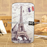 FL2726 2013 Guangzhou hot selling retro paris eiffel tower leather cover flip case for samsung galaxy mega 6.3 i9200