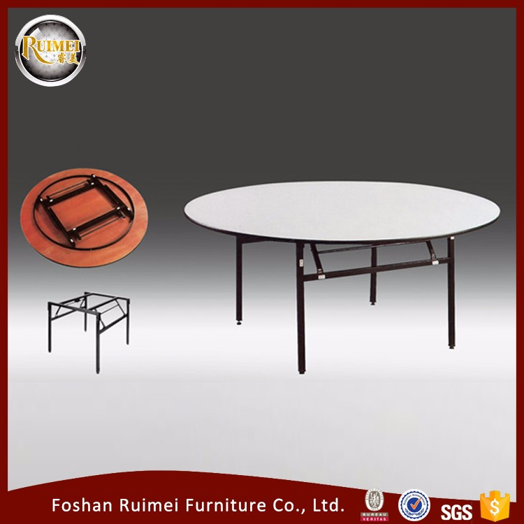 Wholesale popular strong folding living room furniture wooden round dinning table set