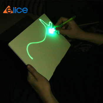 fading images emitting phosphorescence streaks of light drawing board for kids study toys