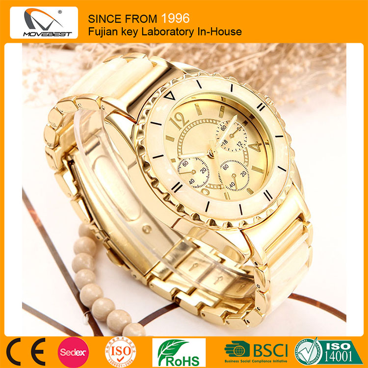 Hot Sell Quartz Watch Women Luxury Alloy Watches Ladies Popular Casual Fashion Gold Watch