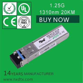 Transceiver module manufacturer with module 1.25g 1310nm sfp 20km