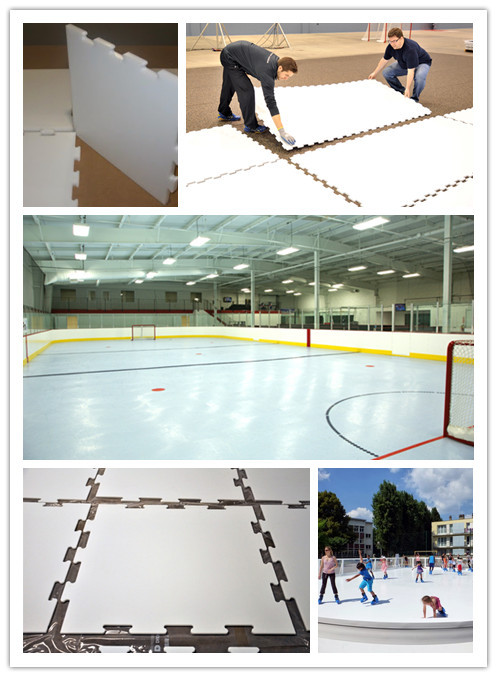High quality hdpe sheet for synthetic ice rink mobile public ice skating rink