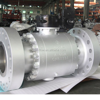 API6D A105 High Pressure Gear Operated Trunnion Mounted forged Ball valve