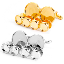 Wholesale round stud and cufflinks blank diy for tuxedo