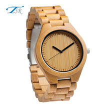 Wooden case OEM your dial design watch mens bamboo wooden watches