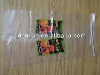 zipper lock plastic bag with hole for vegetable packing