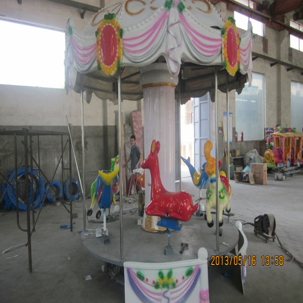 China Amusement Attractions Mini Carousel Horse For Sale