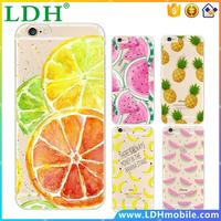 Fruit Pineapple Lemon Banana TPU Soft Silicon Transparent Thin Case Cover For Apple iPhone 4 4S 5 5S 5C 6 6S 6Plus 6s Plus Coque