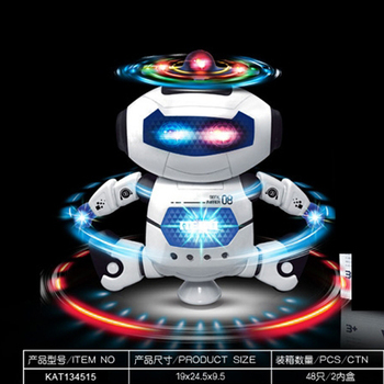 educational rc dancing robot with light and music