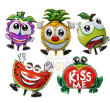 70*46cm funny design fruit shaped foil helium balloon