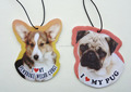 dog paper hanging fragrance car perfume card, car fresheners fresh cards