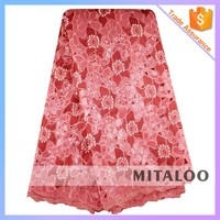 Mitaloo Charming African Organza Lace Fabric With Beads Sequins For Dress MOG0206