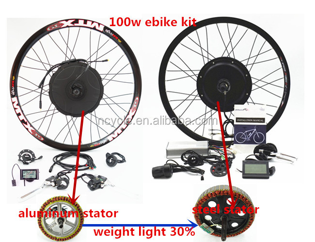 2017 Newest 48V 1000w hubmotor Electric bike conversion kit with water proof