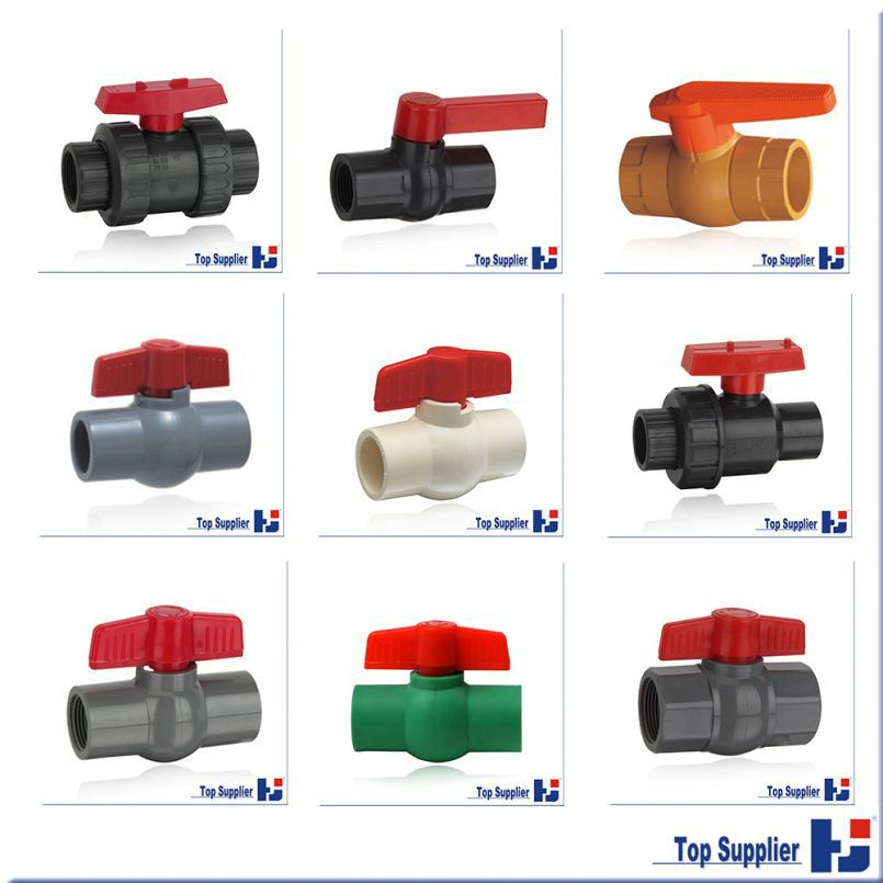 plastic Factory manufacturing UPVC CPVC PPR ball valve