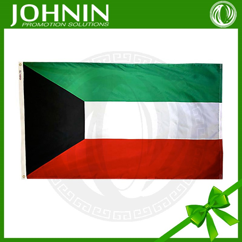 decoration gift 2016 polyester 75D kuwait flag