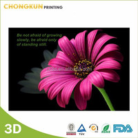 2015 NEW 3d lenticular beautiful flower 3d picture
