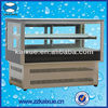 CE approved cake freezer four sides double glazed design
