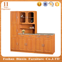 Africa style PVC door customized MDF kitchen cabinets