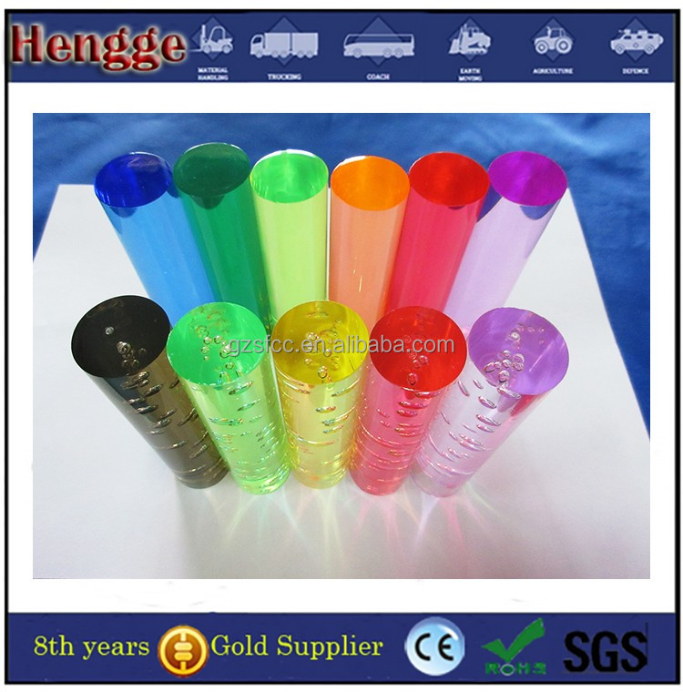 factory sell plastic clear lucite acrylic lighting rod
