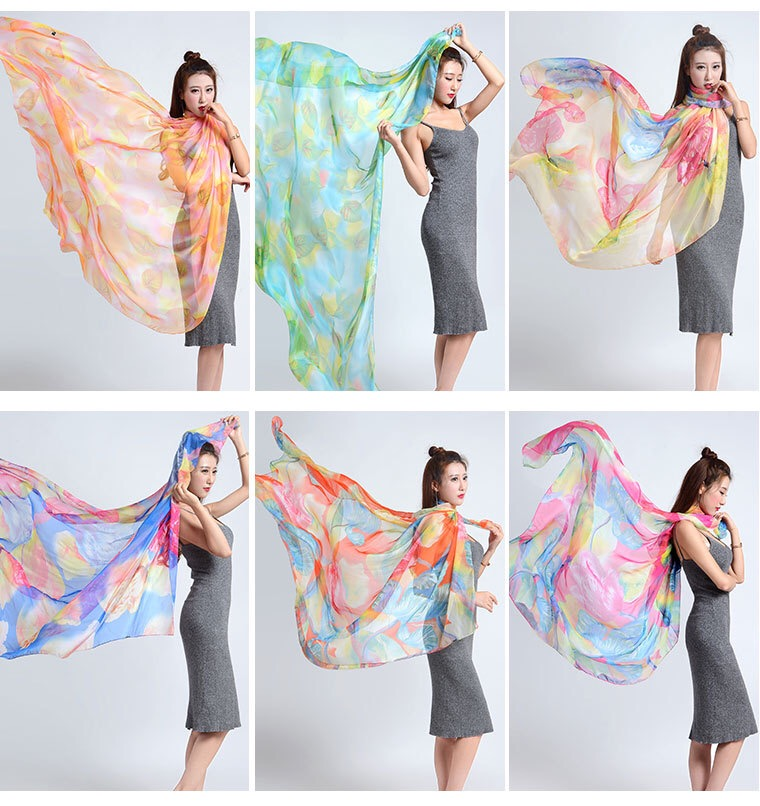Factory direct wholesale oversize print silk feeling scarf pareo sarong 150*200cm