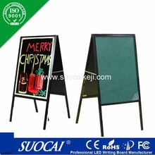 2015 Outdoor magnetic restaurant diy led chalk and menu blackboards