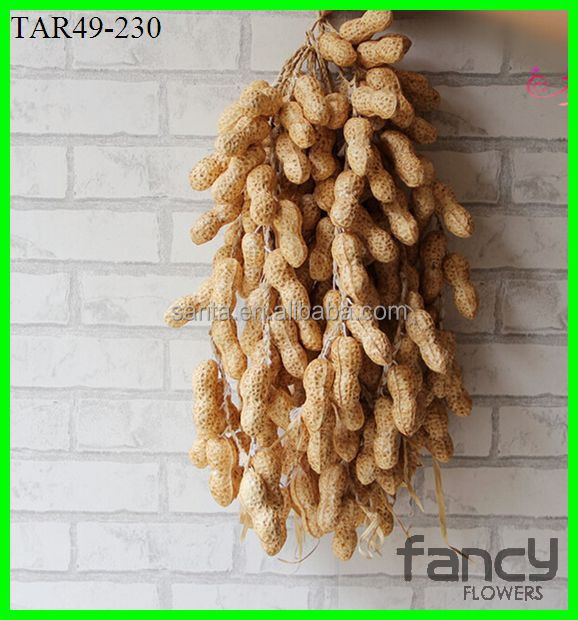 16 heads artificial fruit fake peanut for home decoration