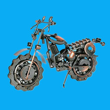 motorcycle shape polyresin modern decoration craft