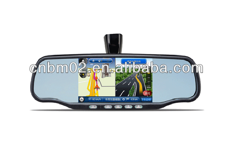 5 inch DVR Digital Rearview Mirror with GPS, Avin, Bluetooth, free holder