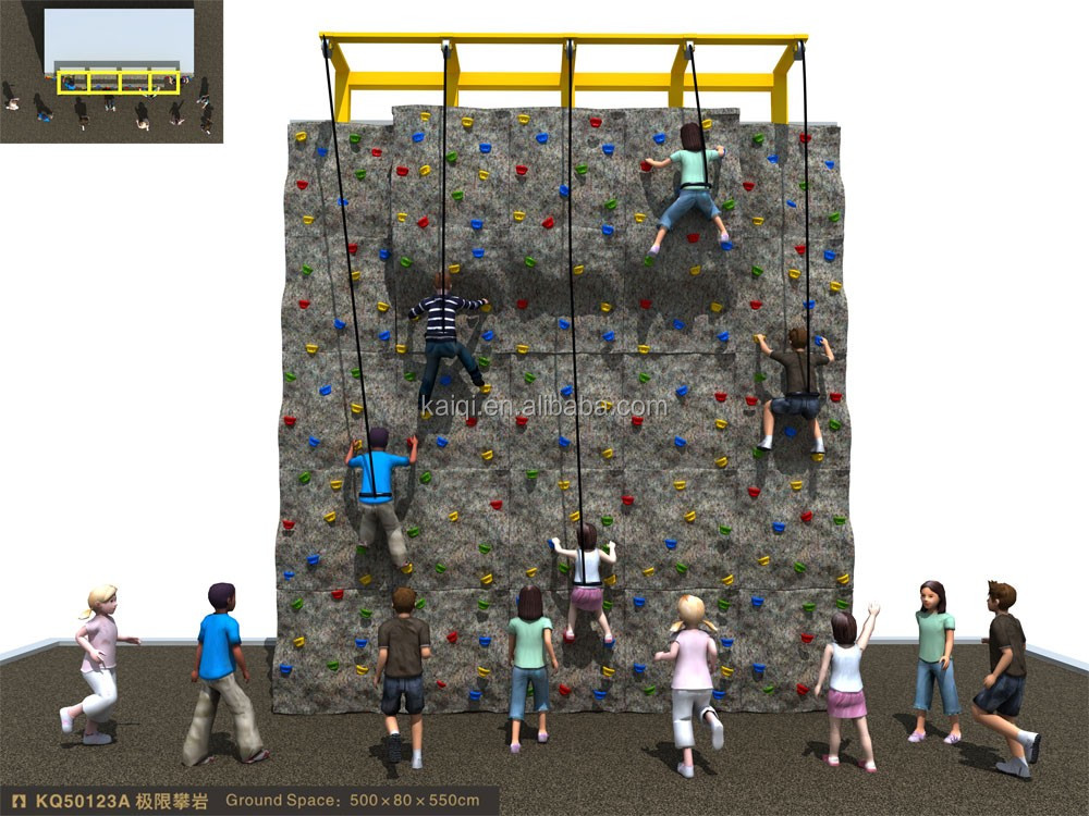 plastic indoor or outdoor rock climbing wall for kids
