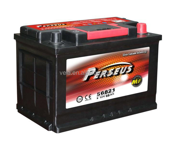 Auto spare <strong>parts</strong> car for Perseus mf car battery 12v 68ah/DIN68