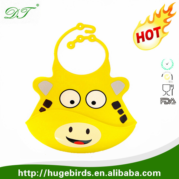 Soft Kids silicone baby bibs with cute animal designs