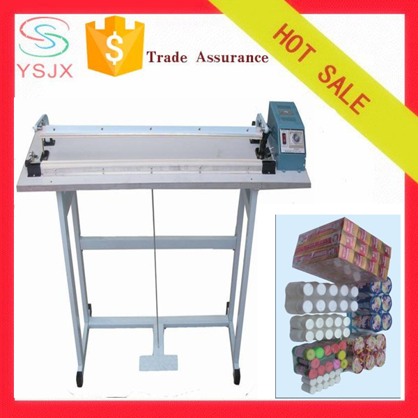 Pedal heating cutting shrink film battery heat sealing machine