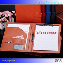Notepad Type and Leather Cover Material Junior Leather Promotional Portfolios for Executive