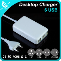 6 ports USB 5V 6A quick rohs universal usb multi charger for phone